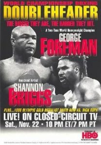 Who was the last boxer to beat George Foreman?