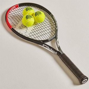 What are tennis rackets made of?